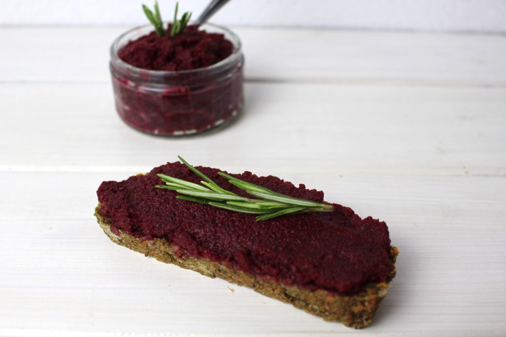 beetroot tahini spread vegan