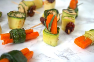 zucchini wrapped carrots