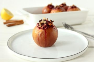 baked apple vegan Christmas