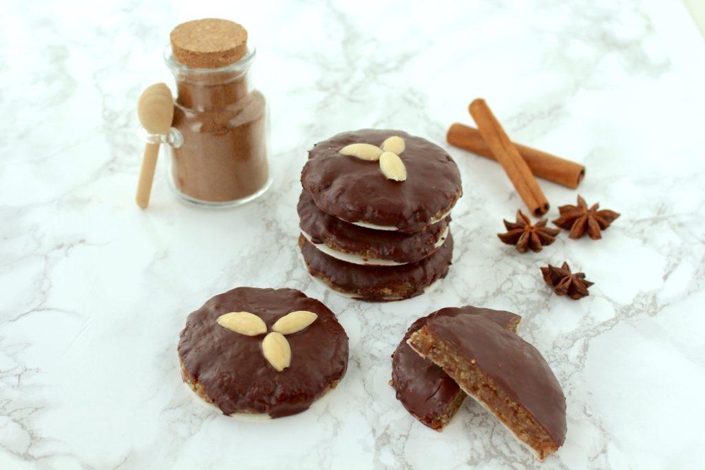 Chocolate Glazed Gingerbread Cookies