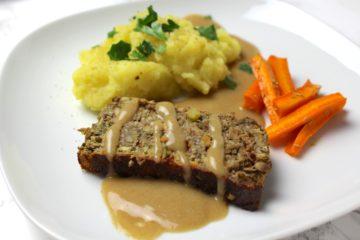 lentil loaf vegan thanksgiving christmas