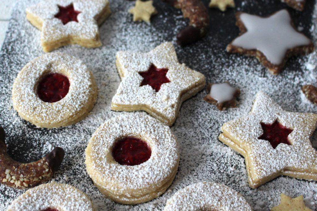 Deutsche Weihnachtsplätzchen.Weihnachtsplätzchen Spitzbuben