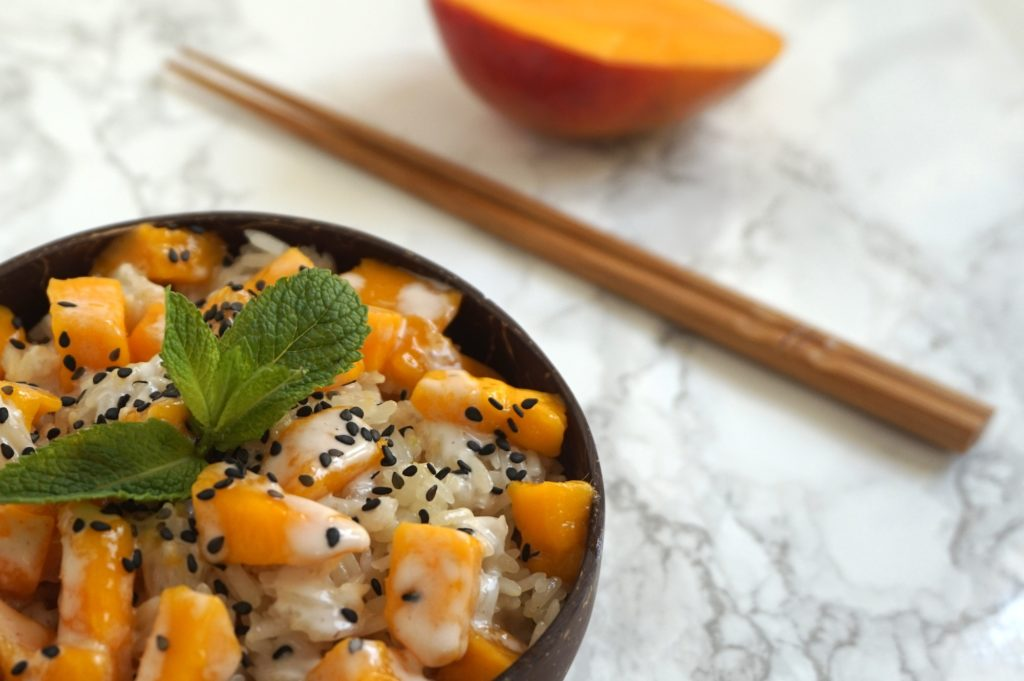 sticky rice mango thai vegan
