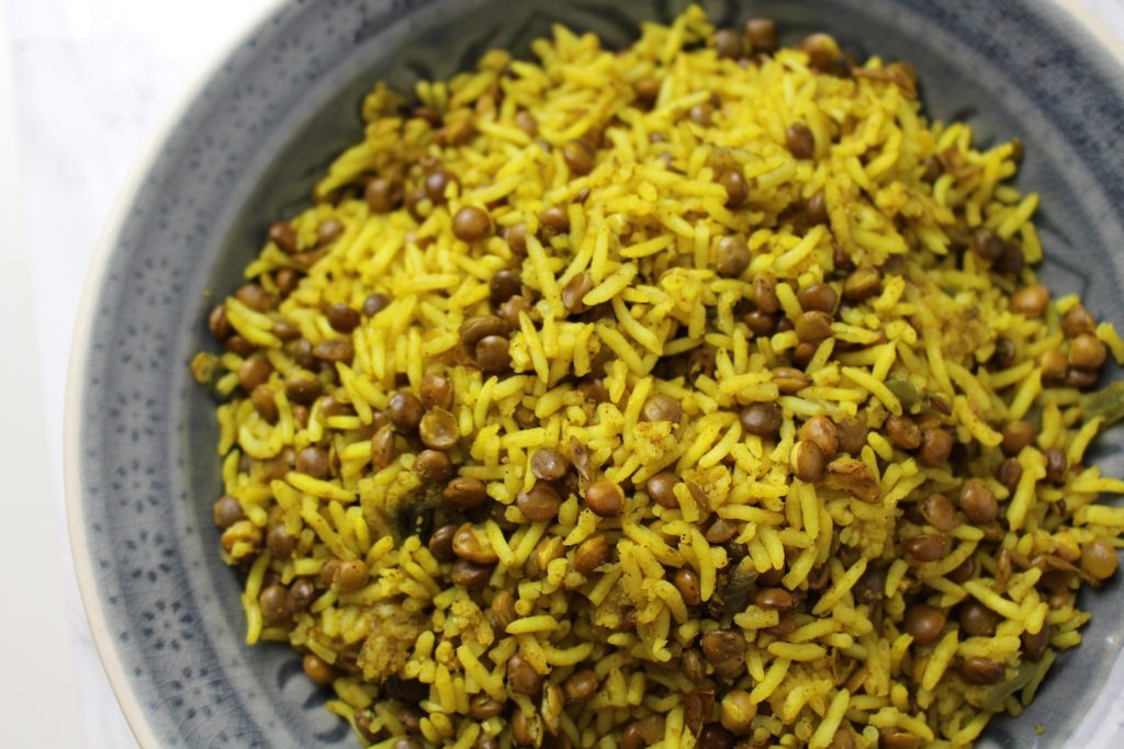 Persian rice with lentils