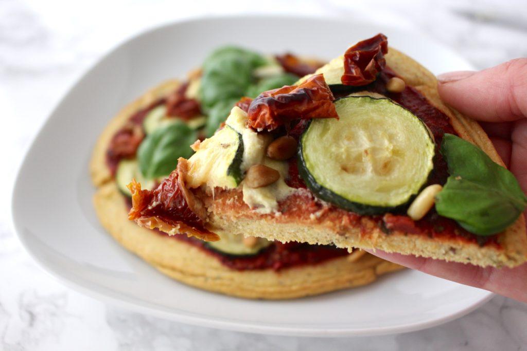Pizza vegan glutenfrei Pizzaboden gesund