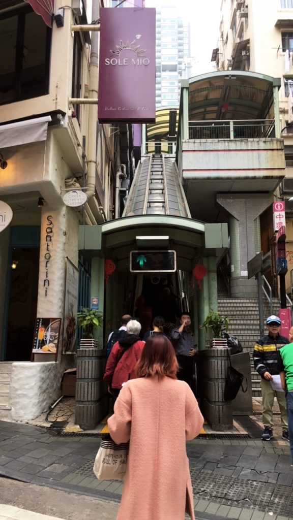 Mid Level Escalators Hongkong