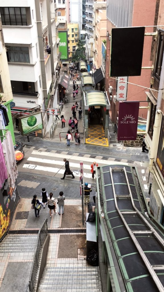 Mid Level Escalator Hongkong