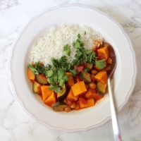 Vegan Sweet Potato Curry Chickpeas