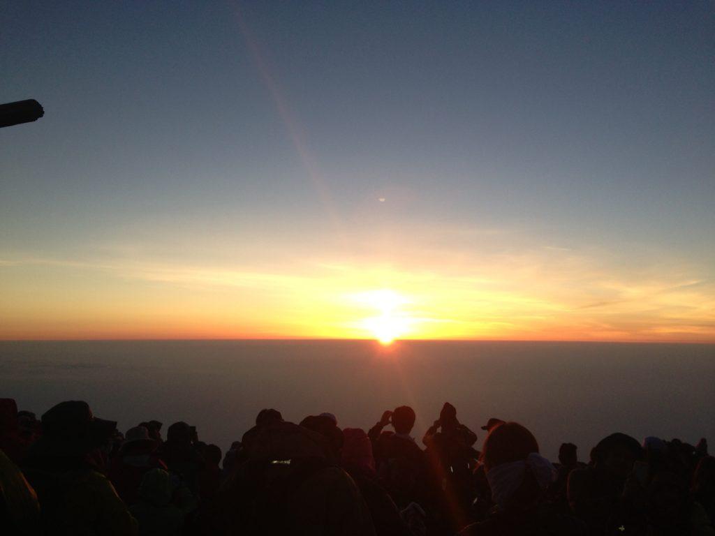 Sonnenaufgang auf dem Fuji