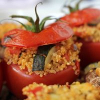Quinoa Stuffed Tomatoes vegan