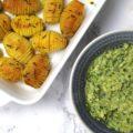 Fächerkartoffeln Hasselbackpotatoes Avocado
