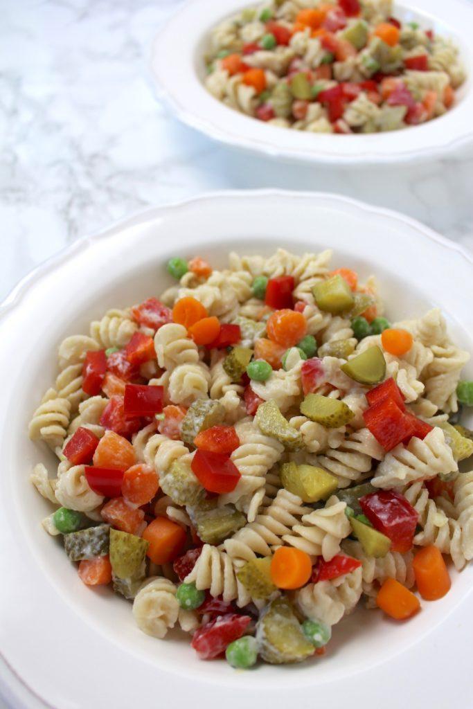 Nudelsalat pasta salad vegan grillen