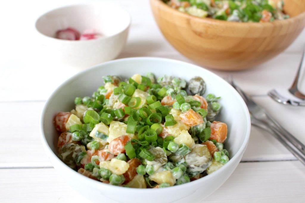 Salat Olivieh vegan potato salad