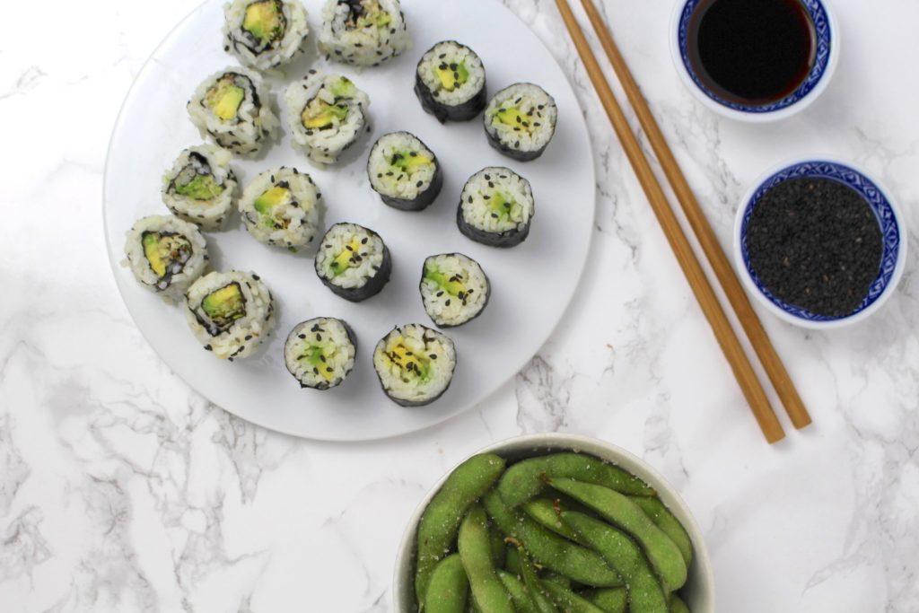 Vegan Sushi Maki Edamame