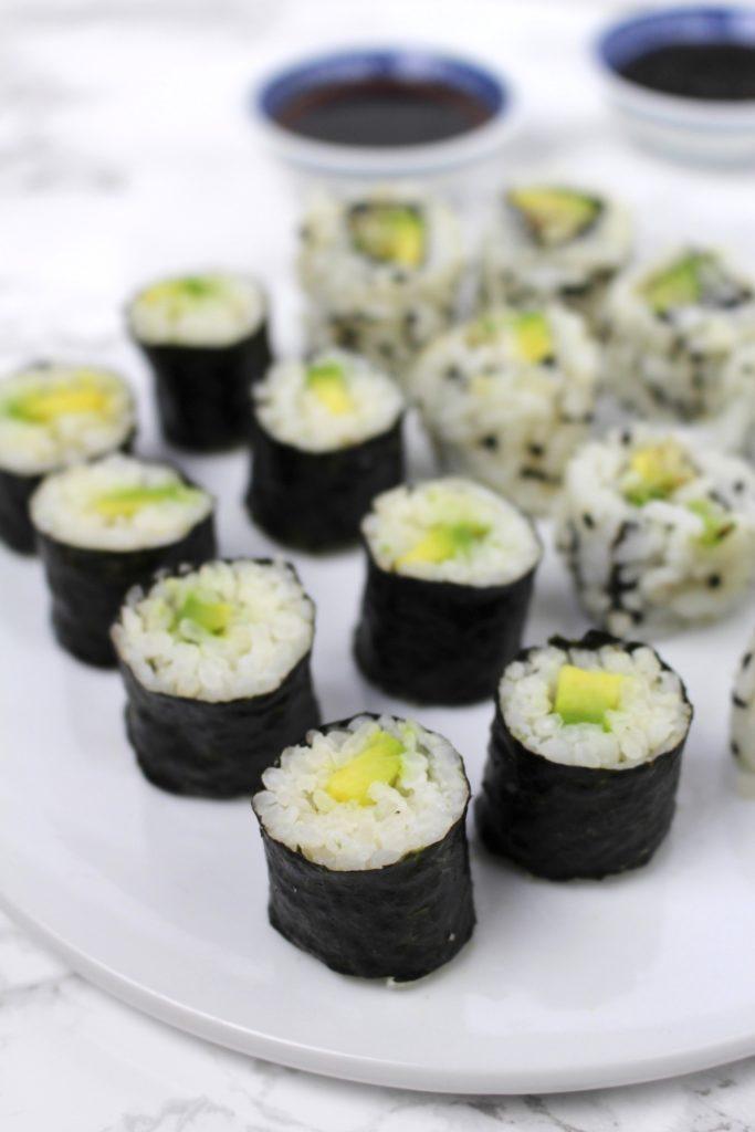 Sushi Avocado Maki California Rolls Uramaki