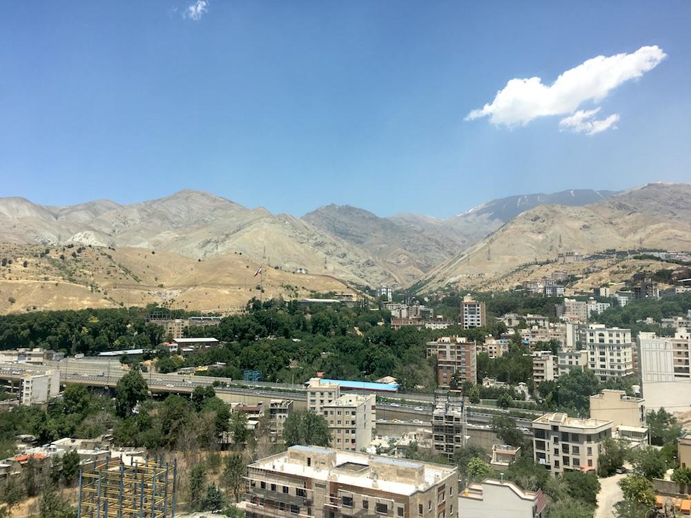 Teheran Hotelaussicht