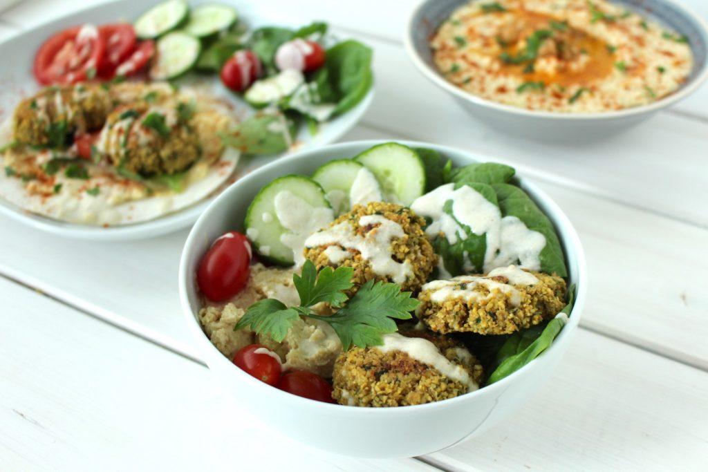 Falafel gebacken Salat gesund Fingerfood