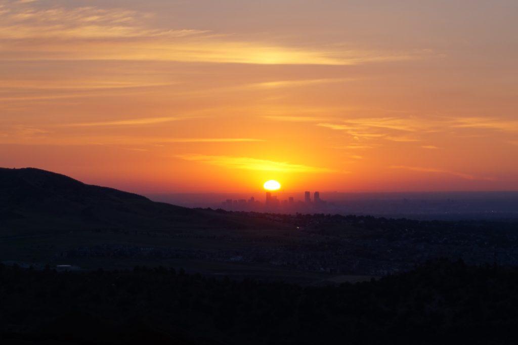 Denver Sonnenaufgang Red Rocks