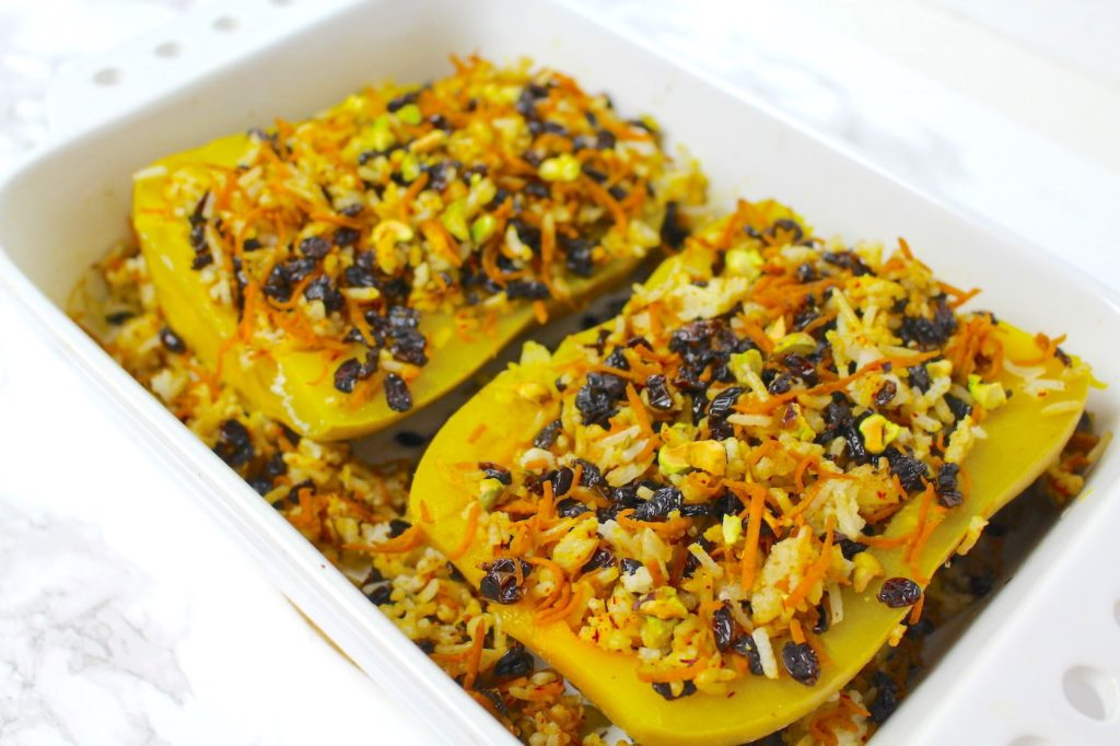 Stuffed Butternut Squash vegan