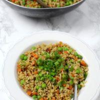 Gebratener Reis vegan Gemüse