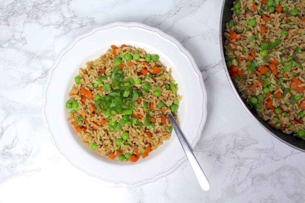 Gebratener Reis vegan Fried Rice chinesisch