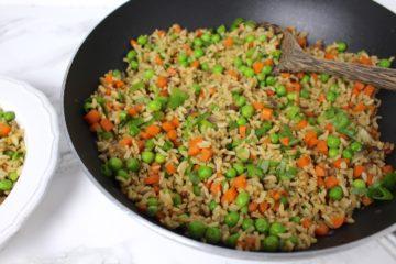 Gebratener Reis Gemüse Wok vegan