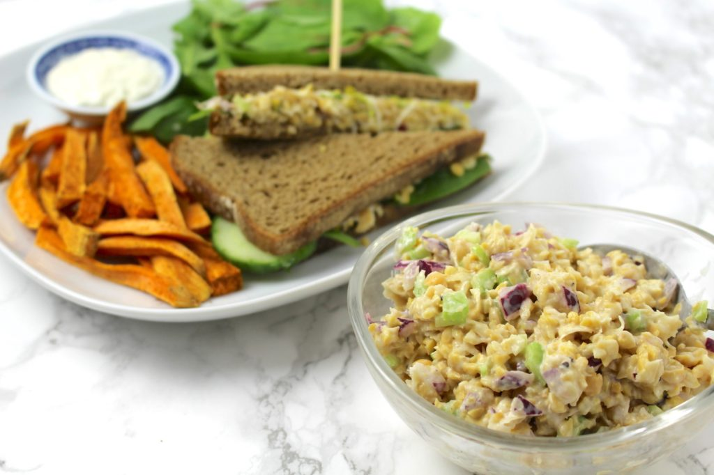 Tuna Chickpea Salad Sandwich Filling Vegan
