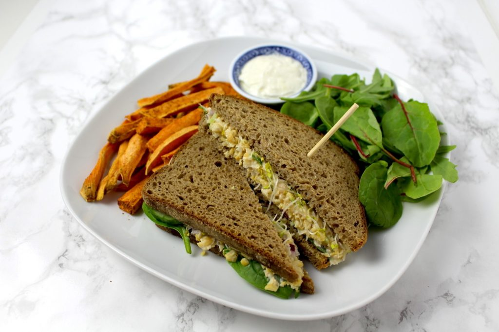Chickpea Salad Sandwich Tuna Vegan