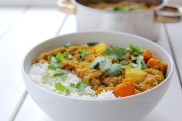 Indian Potato Lentil Stew Vegan Dahl