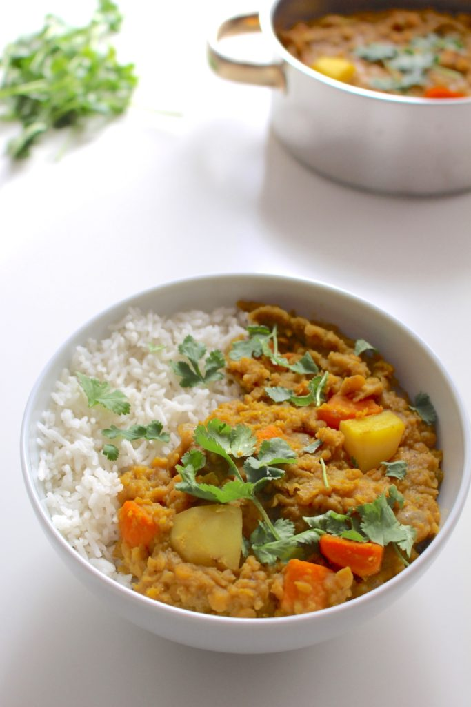 Potato Lentil Dahl Indian Stew Vegan