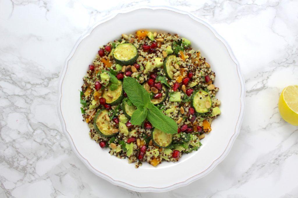 Quinoa salad vegan mediterranean