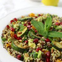 Quinoa Salat gesund vegan zum Mitnehmen