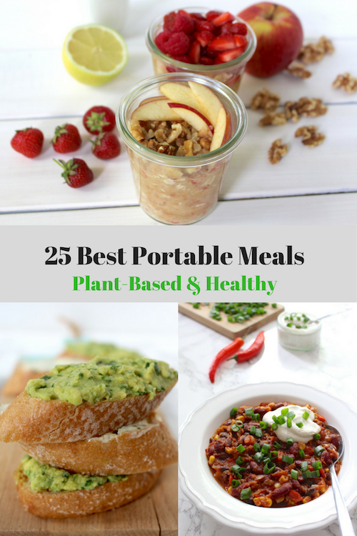 Portable vegan meals healthy plant-based on the go