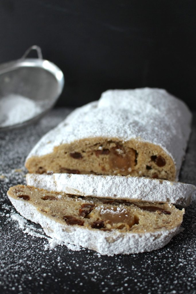 vegan Christmas Bread Stollen with Marzipan