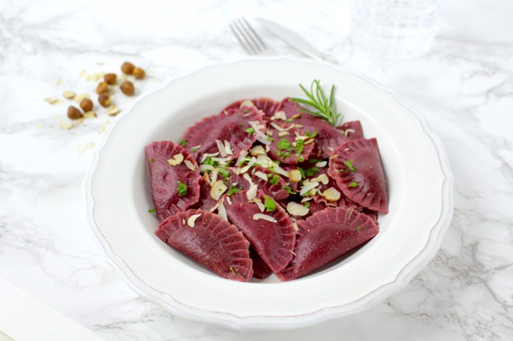 Ravioli Rote Bete vegan
