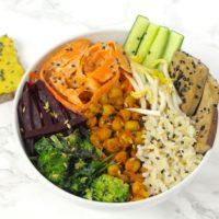 Vegane Buddha Bowl vegan gluten free glutenfrei macro