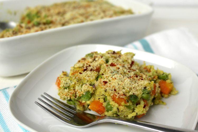 Gemüse Hirse Auflauf vegan Seidentofu