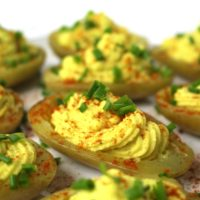 Deviled Potatoes Russische Eier Kartoffeln vegan
