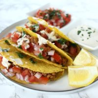 Veggie Tacos vegan tacos lentils walnut