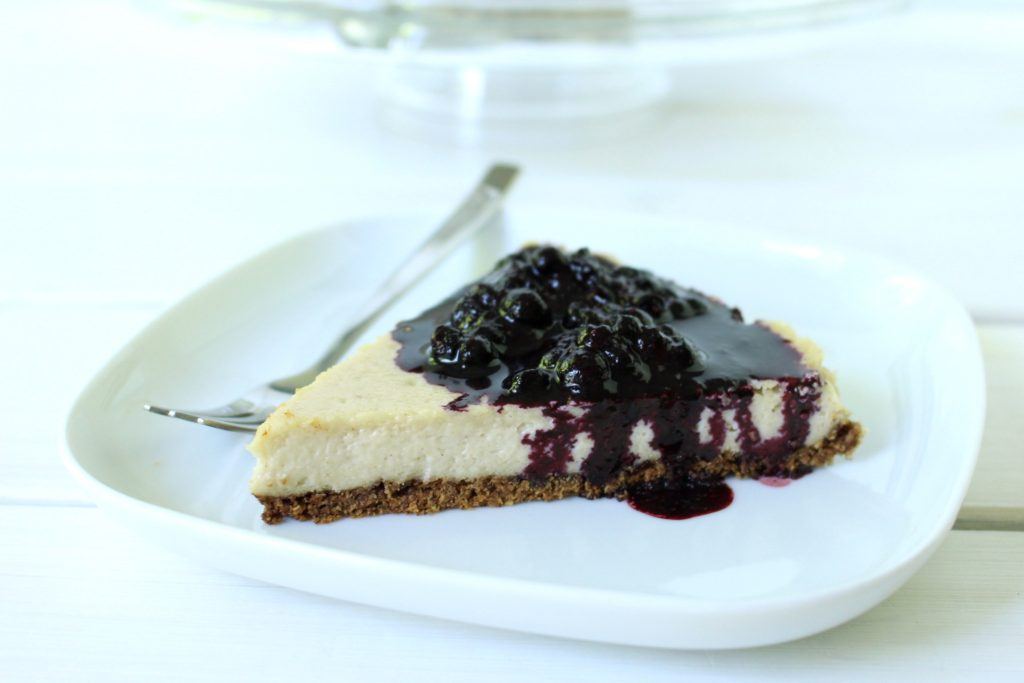 Vegan New York Cheesecake gluten free Käsekuchen