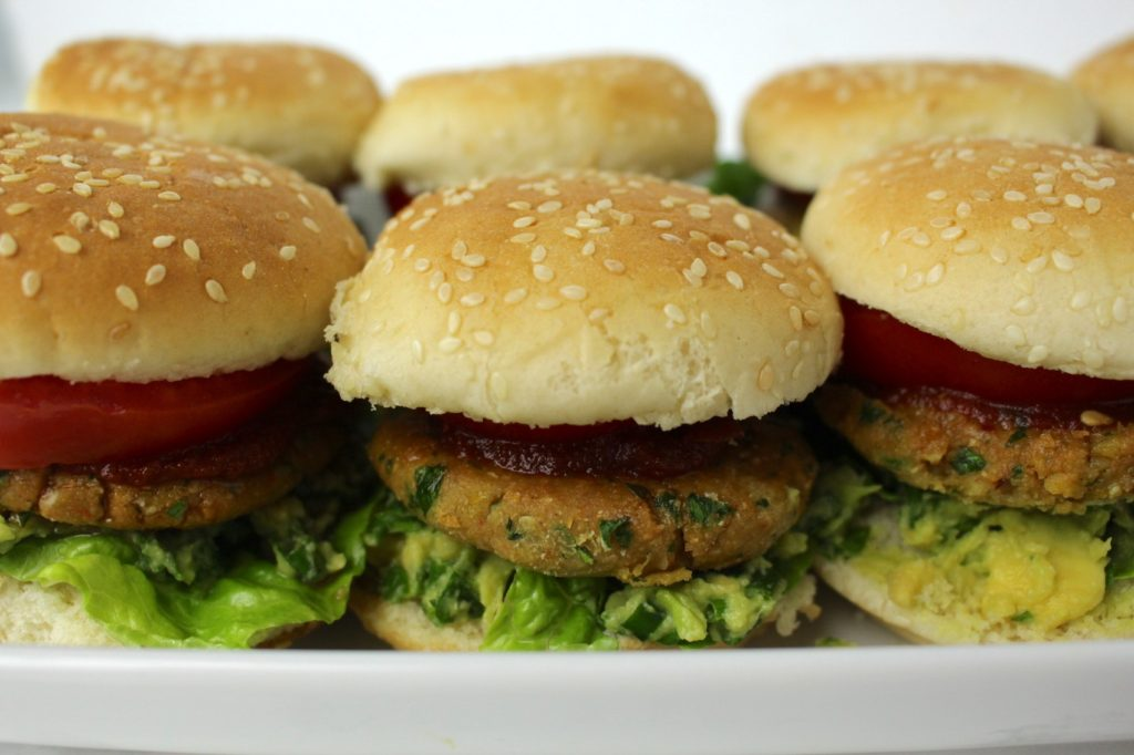 Mini Falafel Burger vegan Fingerfood