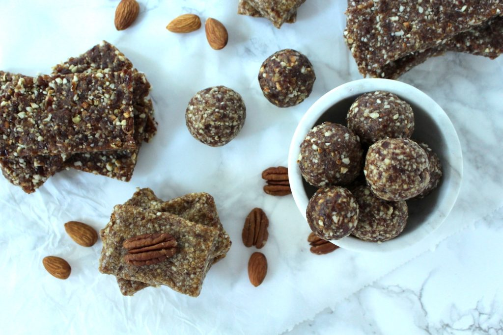Energy Bites Balls Bars vegan glutenfree