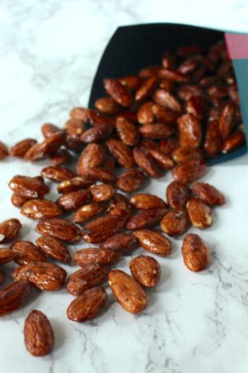 Gebrannte Mandeln Ahornsirup roasted almonds maple syrup
