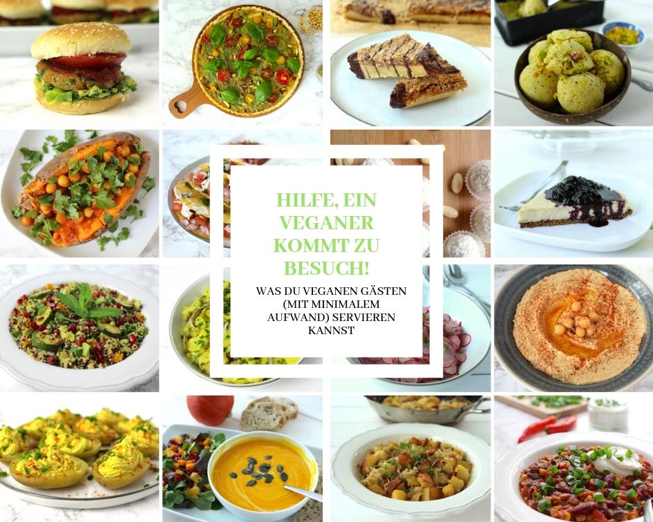 veganer Besuch vegane Gäste einfache vegane Rezepte