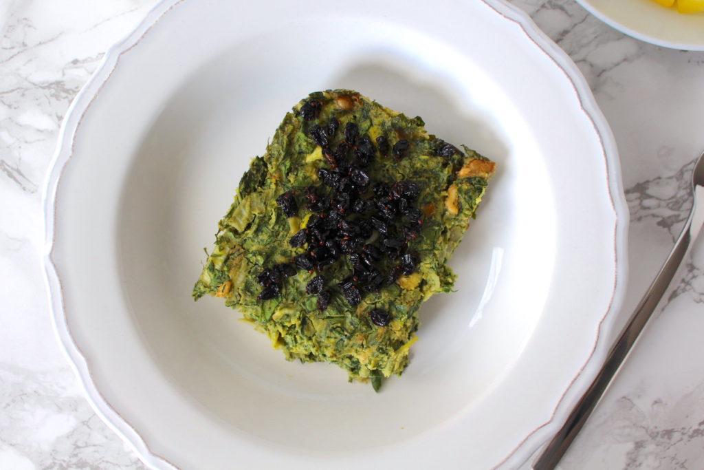 Persian vegan omelette persisch kräuteromelette vegan