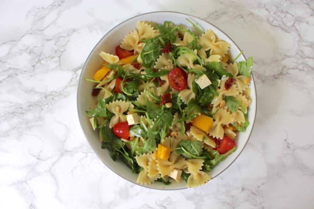 pasta salad vegan mediterranean nudelsalat