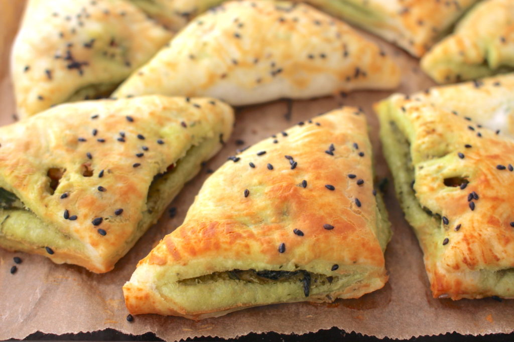 puff pastry pockets vegan finger food