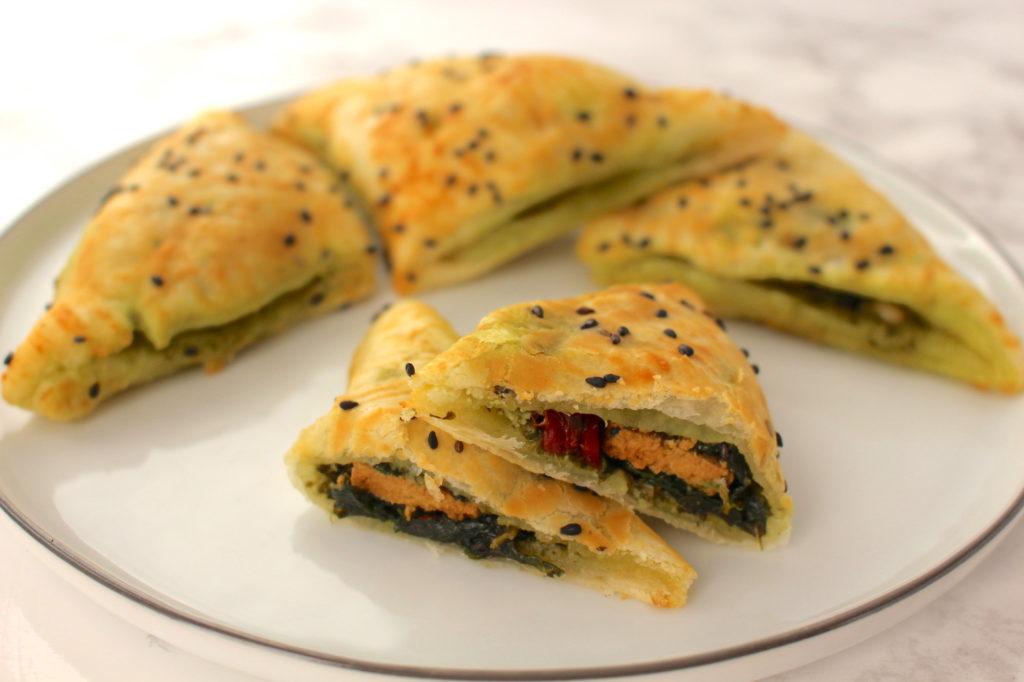 Blätterteigtaschen vegan Silvester Fingerfood