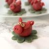 Marzipanschweinchen vegan selber machen Silvester Neujahr