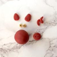 Marzipanschweinchen Glücksschwein vegan Silvester